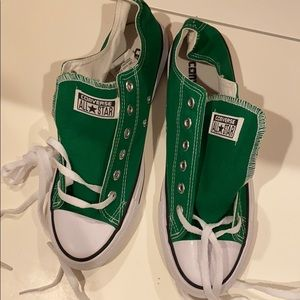 Green converse size 9 new with tags